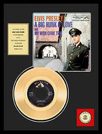 Big Hunk O' Love Framed 24kt Gold Record
