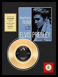 Heartbreak Hotel 24 kt Gold Record