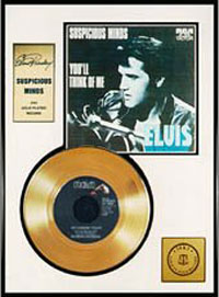 Suspicious Minds 24 kt Gold Record