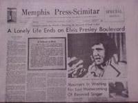 Newspaper With Death Of Elvis Presley