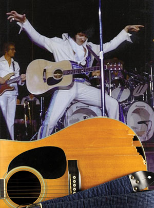 Elvis Guitar Auction Broken