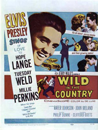 Movie poster 'Wild In The Country'